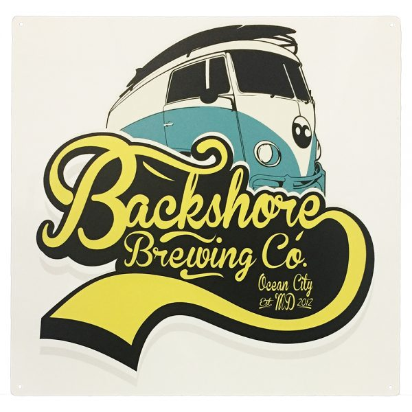 "Backshore Brewing 16"" Square Tacker Sign"