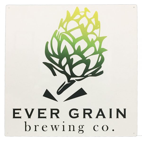 "Ever Grain Brewing 16"" Square Tacker Sign"