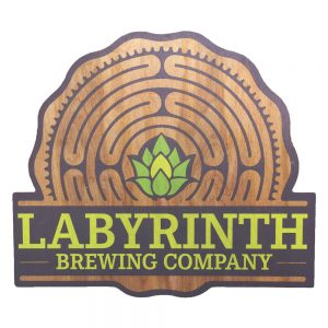 Wood tacker sign - Labyrinth Brewing Company