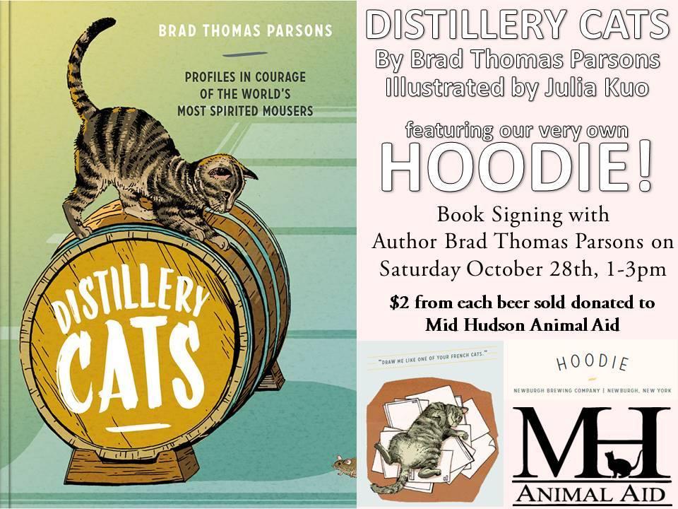 Distillery Cats: Book Signing w/ Brad Parson & MHAA Fundraiser @ Newburgh Brewing Co.  | Newburgh | New York | United States