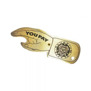Tap Room Tackers Brass Spinner Bottle Opener